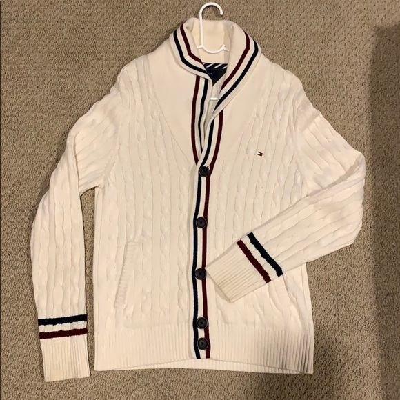 Tommy Hilfiger Other - TOMMY HILFIGER  BUTTON UP CABLE CARDIGAN
